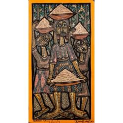 PRINCE TWINS SEVEN-SEVEN (1944 OGIDI, NIGERIA - 2011 IBADAN, NIGERIA), PEANUT SELLING FAMILY